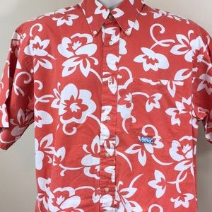 Tommy Bahama Orange Hawaiian Shirt
